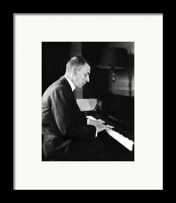 1930s Candid Framed Print featuring the photograph Russian Composer And Pianist Sergei by Everett