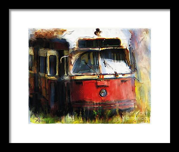 Vehicles Framed Print featuring the painting Rust In Peace by Bob Salo
