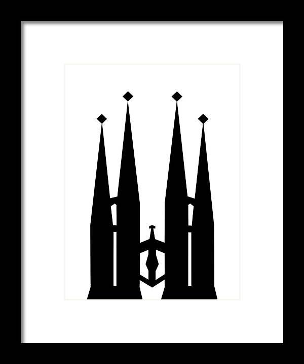 Framed Print featuring the mixed media Sagrada Familia by Asbjorn Lonvig