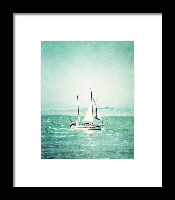 Sailing Framed Print featuring the photograph Sailboat In San Francisco Bay by Ken Reardon