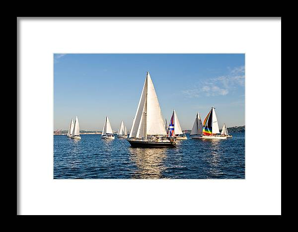 Seattle Framed Print featuring the photograph Sailboats by Tom Dowd