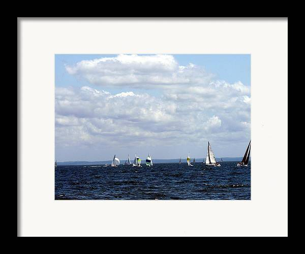 Sailboat Framed Print featuring the photograph Sailing by Kendall Eutemey