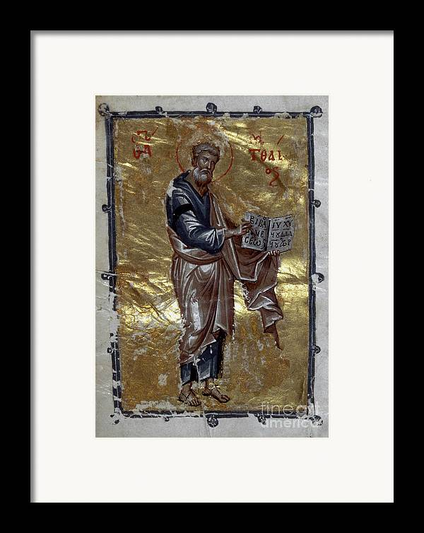 13th Century Framed Print featuring the painting Saint Matthew by Granger