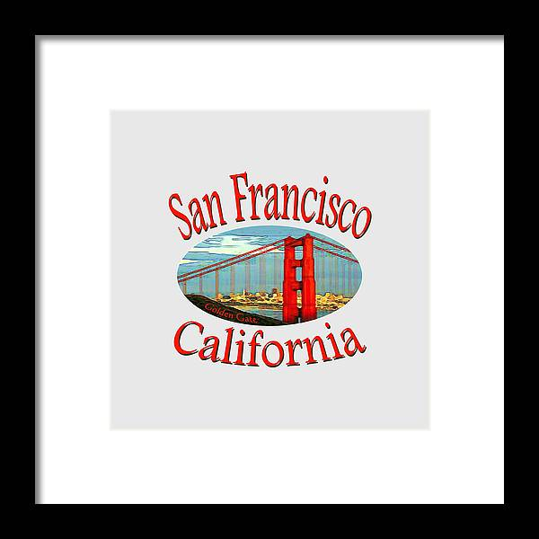 Sanfrancisco Framed Print featuring the mixed media San Francisco California Design by Peter Potter