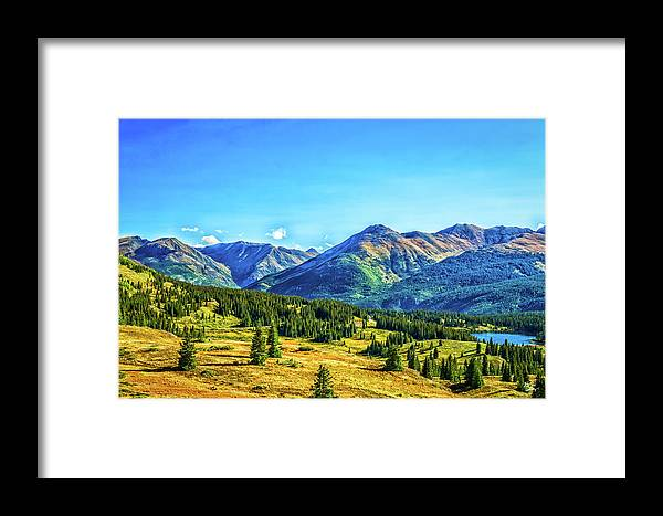 Million Dollar Highway Framed Print featuring the photograph San Juan Skyway by Gestalt Imagery
