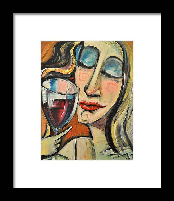 Wine Framed Print featuring the painting Savoring The First Sip by Tim Nyberg