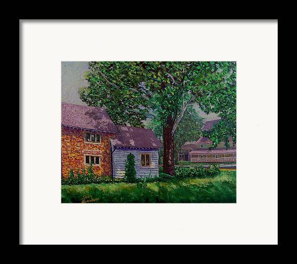 Landscape Framed Print featuring the painting Schwabs Fudge by Stan Hamilton