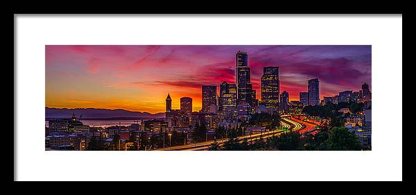 Seattle Framed Print featuring the photograph Seattle Colors... by Sigma Sreedharan