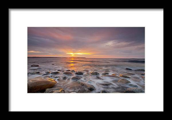 Seawall Framed Print featuring the photograph Seawall Sunrise by Scott Bryson