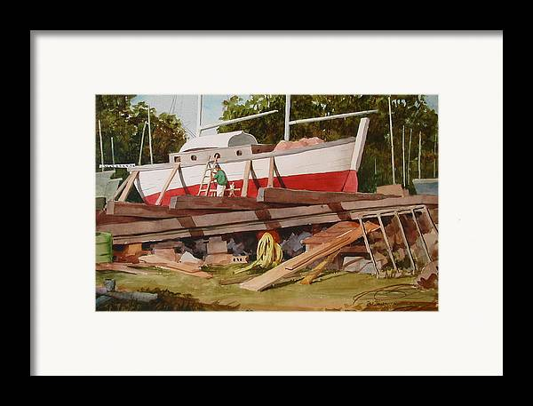Boats Framed Print featuring the painting Second Time Around by Faye Ziegler