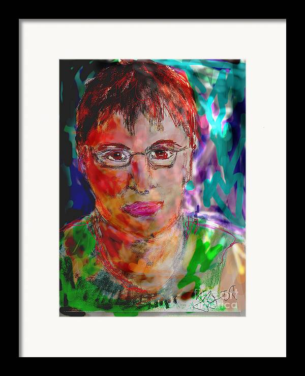 Self Portrait Framed Print featuring the mixed media Self Portrait by Joyce Goldin