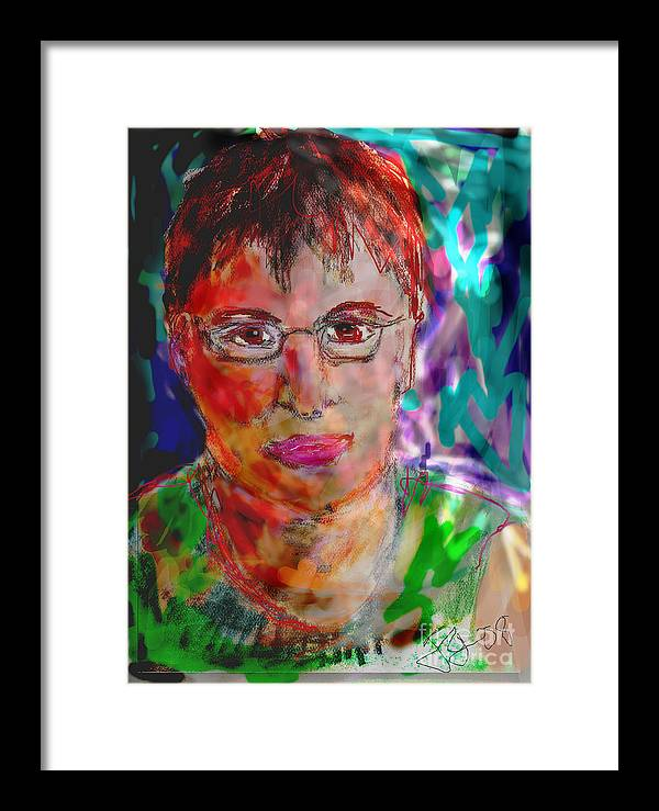 Self Portrait Framed Print featuring the mixed media Self Portrait by Joyce Goldin