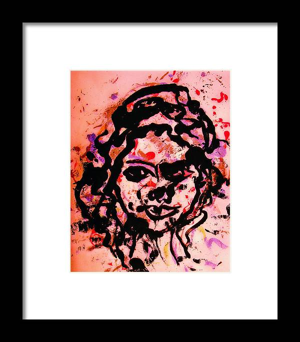 Portrait Framed Print featuring the painting Self Portrait by Natalie Holland