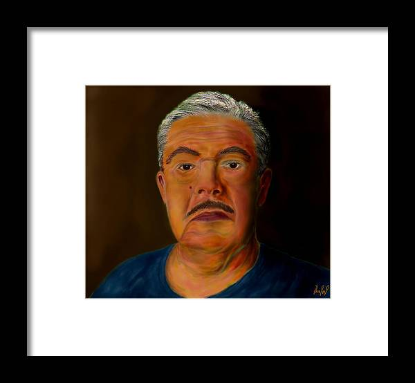 Selfportrait Framed Print featuring the painting Selfportrait by Helmut Rottler