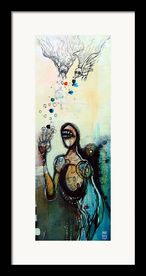 Figure Painting Framed Print featuring the painting Separation Of Mind by Mark M Mellon