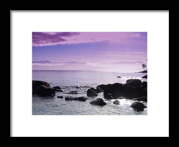Beach Framed Print featuring the photograph Serenity by Chrissy Gibbs
