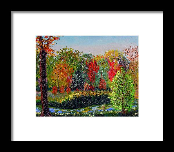 Landscape Framed Print featuring the painting Sewp 10 10 by Stan Hamilton