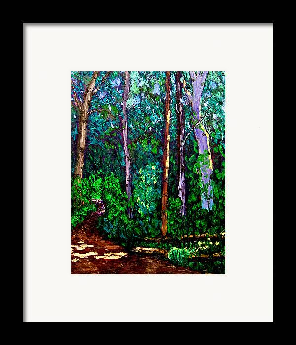 Woods Framed Print featuring the painting Sewp 6 15 by Stan Hamilton
