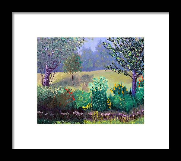 Landscape Framed Print featuring the painting Sewp 6 23 by Stan Hamilton