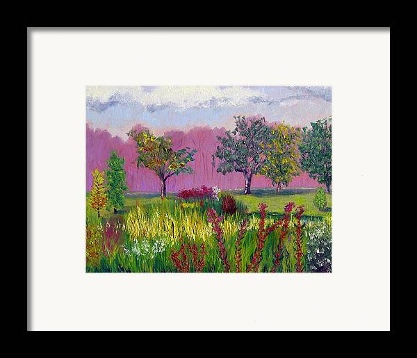 Landscape Framed Print featuring the painting Sewp 9 24 by Stan Hamilton