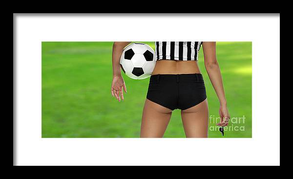 Soccer Framed Print featuring the photograph Sexy Referee by Maxim Images Prints