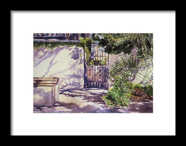 Landscape Framed Print featuring the painting Shadow Patterns by Durinda Cheek
