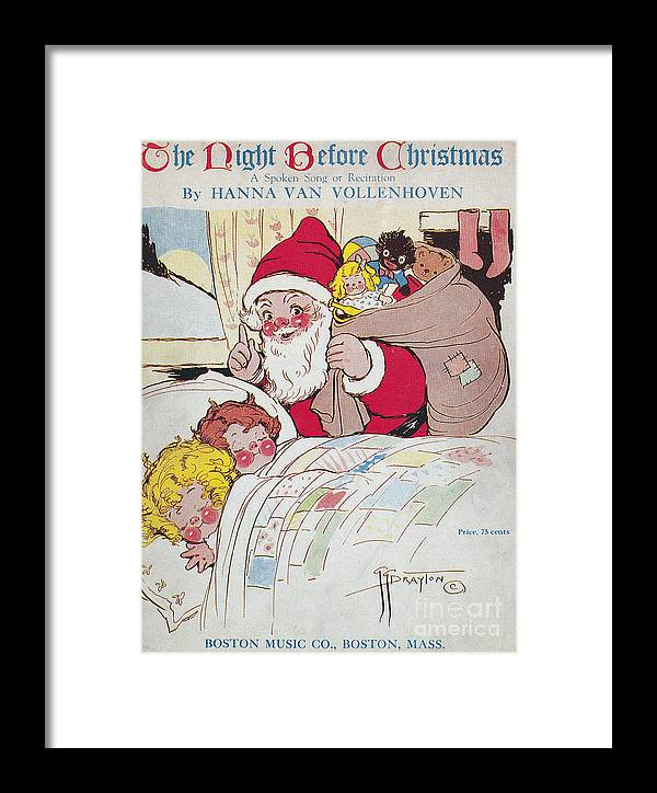 1911 Framed Print featuring the photograph Sheet Music Cover, 1911 by Granger