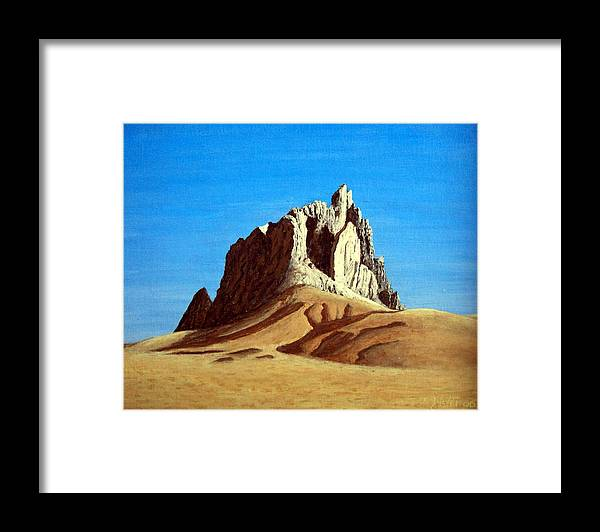 Landscape Paintings Framed Print featuring the painting Ship Rock by Frederic Kohli