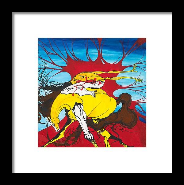 Pony Framed Print featuring the painting Show Off by Dallas Poundmaker