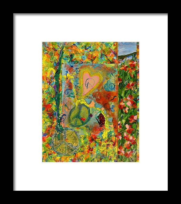 Abstract Art For Sale Framed Print featuring the painting Silly Boy Stupid Man by Jerry Hanks