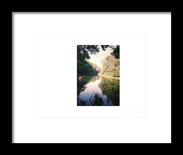 Reflection Of A Beautiful River Framed Print featuring the photograph Silver River by Hal Newhouser