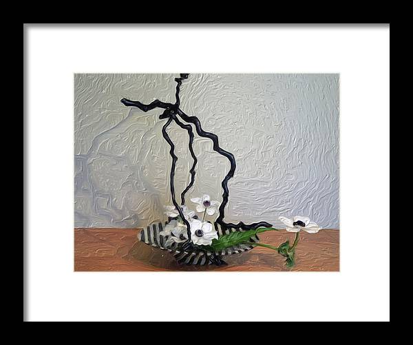 Flowers Framed Print featuring the digital art Simplicity by Don Wright