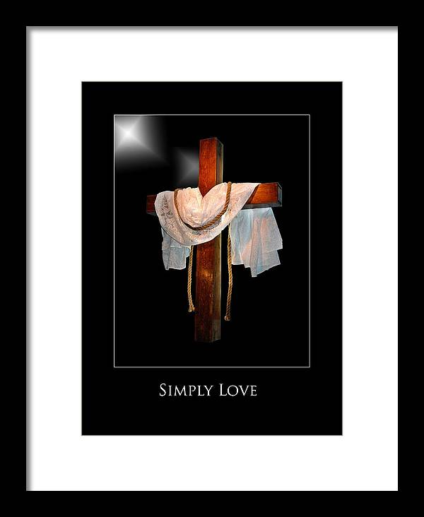 Framed Print featuring the photograph Simply Love by Richard Gordon