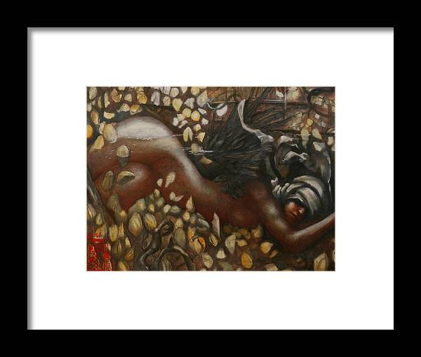 Siren Ralph Nixon Jr Framed Print featuring the painting Sirens Of The Twilight 1 by Ralph Nixon Jr