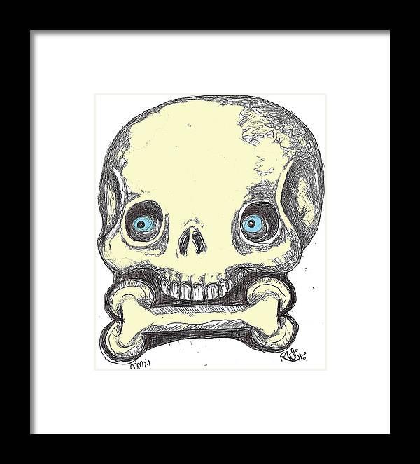 Rwjr Framed Print featuring the digital art Skullnbone by Robert Wolverton Jr