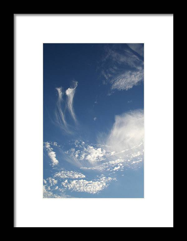 Sky Framed Print featuring the photograph Sky Dance by Brande Barrett