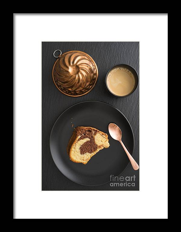 Marble Cake Framed Print featuring the photograph Slice Of Marble Cake by Elisabeth Coelfen