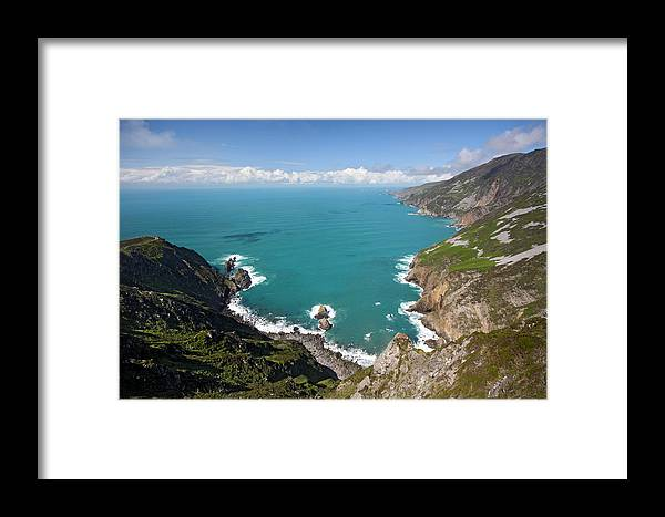 Slieve League Framed Print featuring the photograph Slieve League Donegal Ireland by Pierre Leclerc Photography