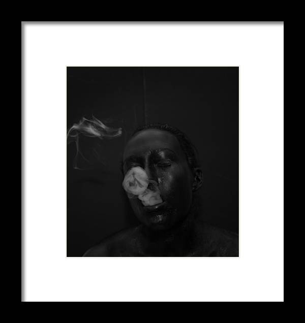 Smoke Framed Print featuring the photograph Smoke Ring by Emily Kemp