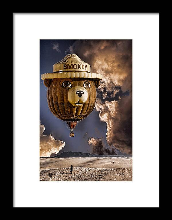 Smokey Framed Print featuring the photograph Smokey by Diana Powell