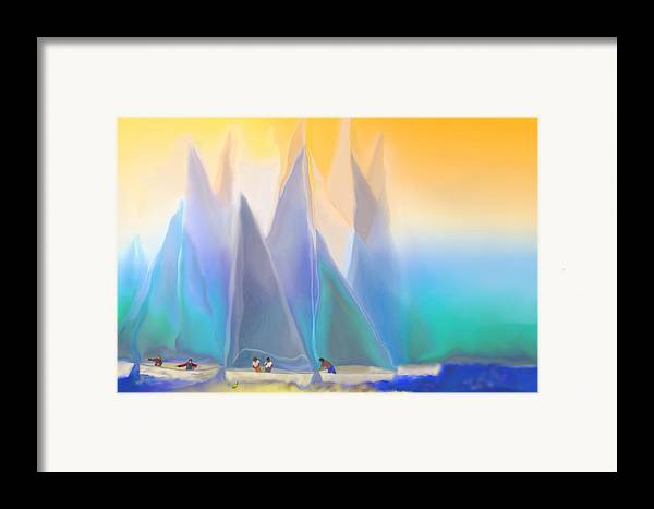 Summer Framed Print featuring the digital art Smooth Sailing by Mathilde Vhargon