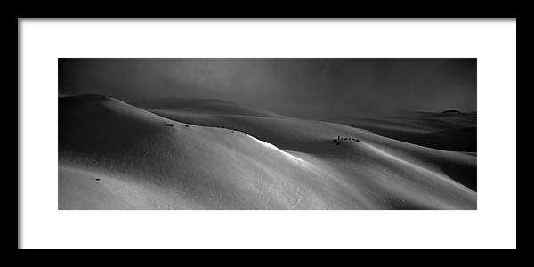 Snow Framed Print featuring the photograph Snowscape by Alasdair Turner