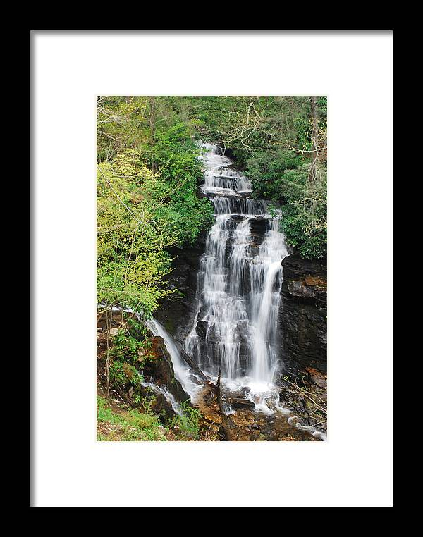 Soco Falls Framed Print featuring the photograph Soco Falls by Classic Color Creations