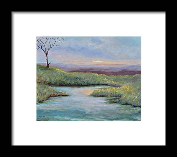 Lone Trees Framed Print featuring the painting Soledad by Ginger Concepcion