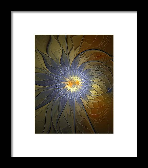 Digital Art Framed Print featuring the digital art Something Blue by Amanda Moore