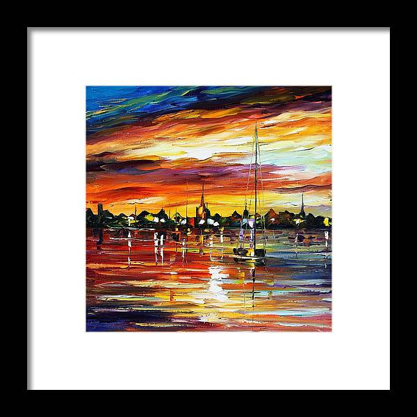 Afremov Framed Print featuring the painting Spain by Leonid Afremov