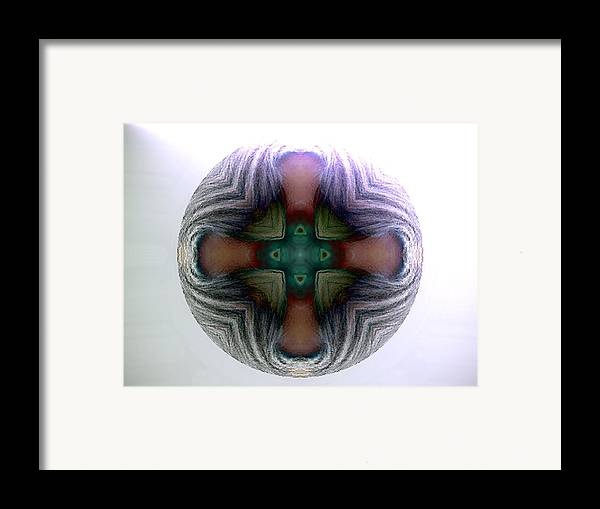 Sphere Framed Print featuring the digital art Spheres by Raynard Cantwell
