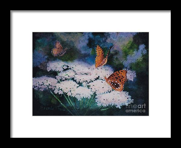 Butterfly Painting Framed Print featuring the painting Splendor In The Meadow by Brenda Thour