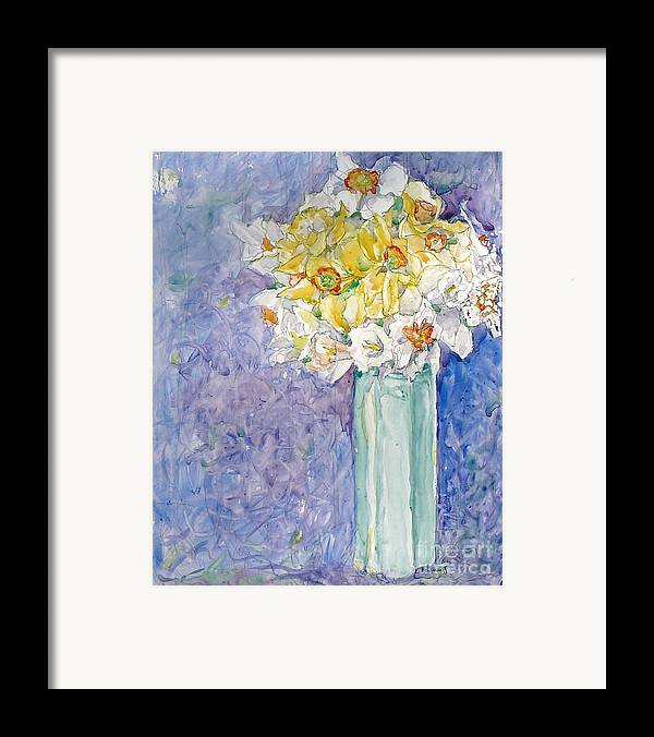 Watercolor Framed Print featuring the painting Spring Blossoms by Jan Bennicoff