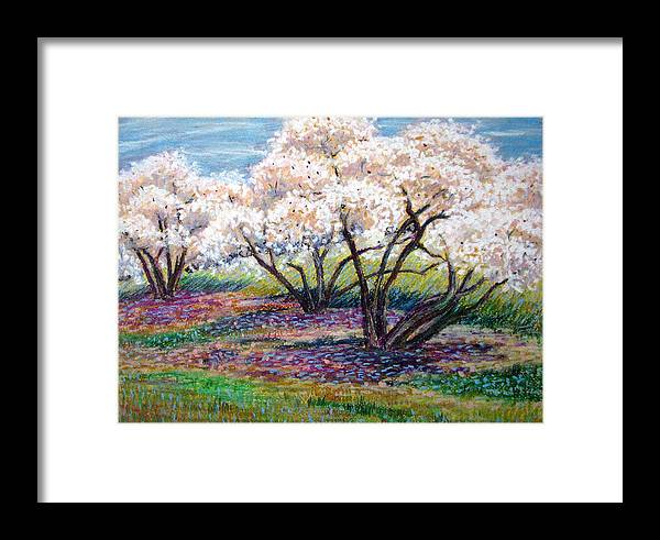 Oil Pastel Framed Print featuring the painting Spring Has Sprung by Art Nomad Sandra Hansen